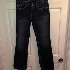 """Big Star Maddie Mid Rise Fit Size 26""""/3 Blinged Up"""